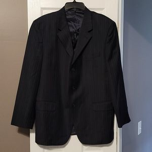 Blue Pin Stripped Suit
